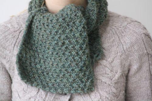 tricoter une echarpe quel point