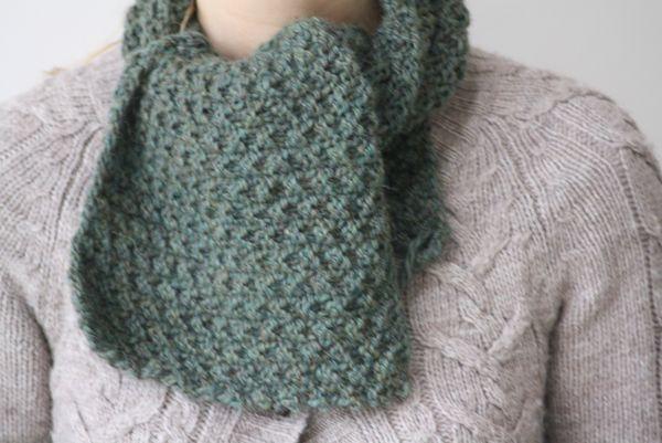 Quel Point Pour Tricoter Une Écharpe snood ou écharpe ? - l'atelier13