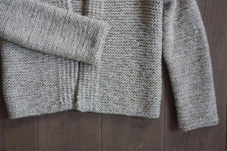 tricoter un gilet femme au point mousse